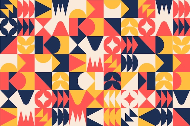 Carta da parati murale geometrica Vettore Premium