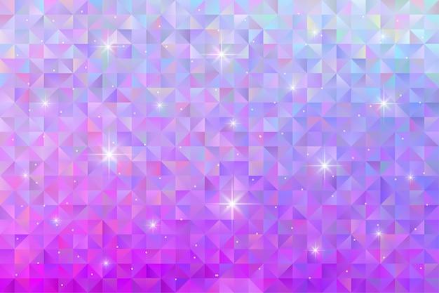 Sfondo motivo geometrico con luce stellare lampeggiante. carta da parati poligonale Vettore Premium