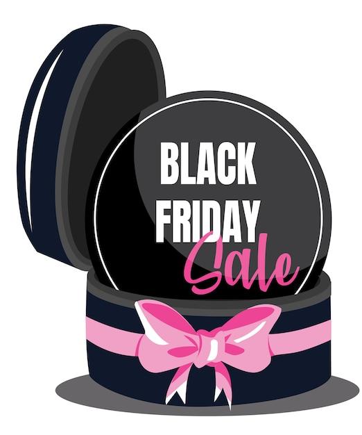 Sfondo di vendita regalo con grande nastro rosa. wallpaper.flayer, invito, poster, logo, brochure, banner, calendario Vettore Premium
