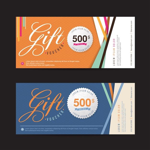 Modello di promozione sconto buono regalo Vettore Premium