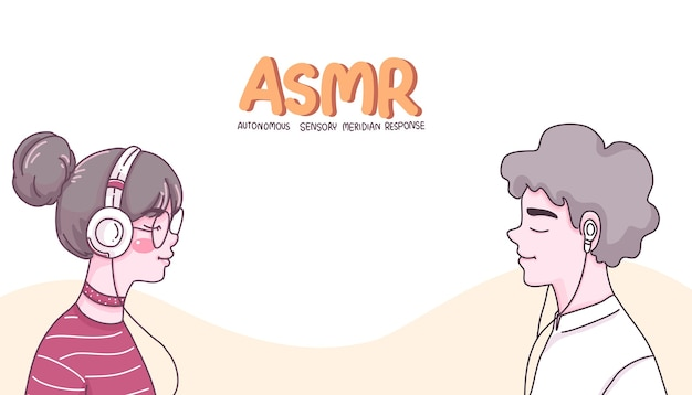 Ragazza e ragazzo personaggio dei cartoni animati illustrazione. Vettore Premium