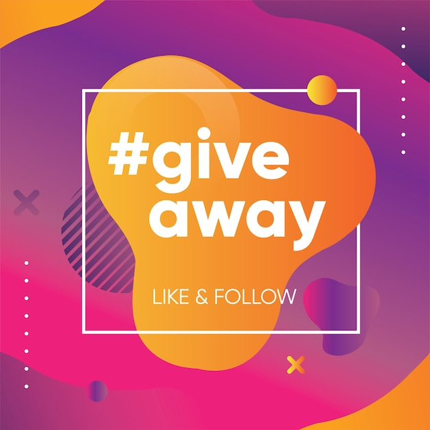 Banner omaggio per quiz o concorso per follower o iscritti nei social media Vettore Premium