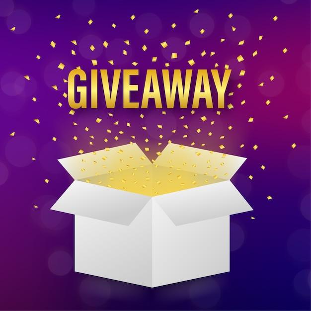 Concetto giveaway con confezione regalo Vettore Premium