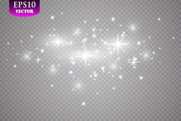 Effetto luce bagliore. illustrazione. concetto di natale flash. Vettore Premium