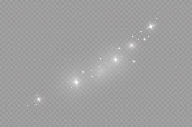 Effetto luce bagliore. illustrazione. flash natalizio. polvere Vettore Premium