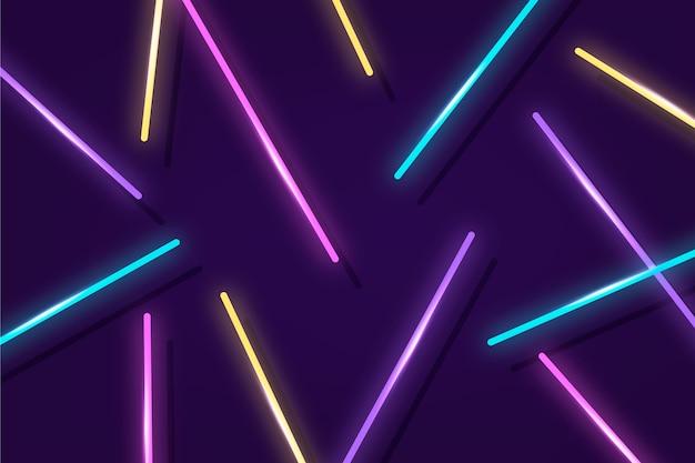 Sfondo di luci al neon incandescente Vettore Premium