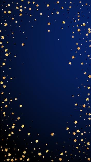 Stelle d'oro coriandoli scintillanti di lusso casuale. Vettore Premium