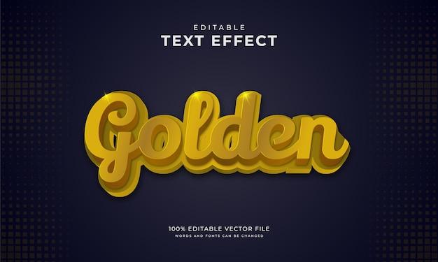 Effetto testo oro su sfondo scuro Vettore Premium