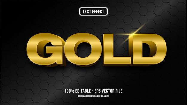 Concetto di stile effetto testo oro Vettore Premium