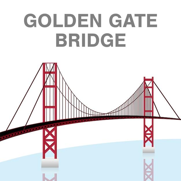 Golden gate bridge Vettore Premium