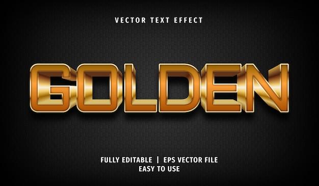 Effetto testo dorato, stile di testo modificabile Vettore Premium