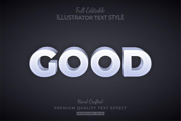 Buono pulito modificabile effetto testo 3d stile premium Vettore Premium