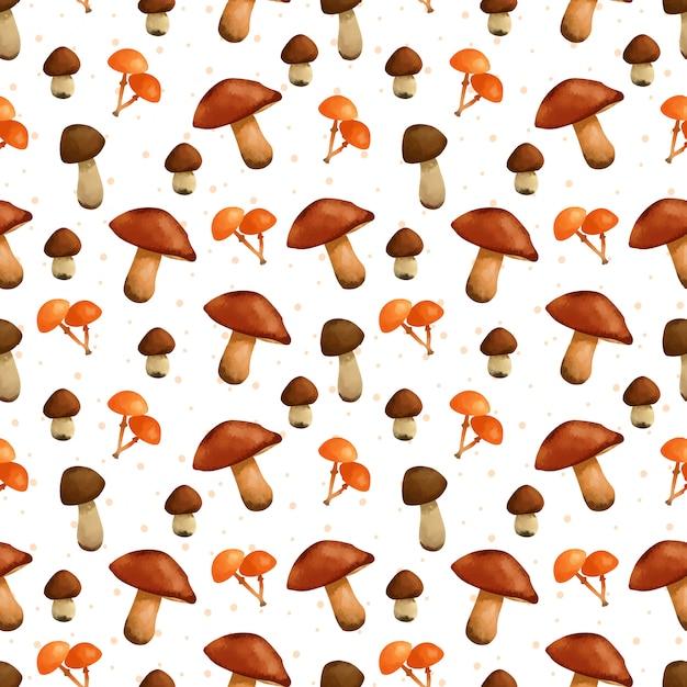 Reticolo senza giunte di funghi splendidi Vettore Premium