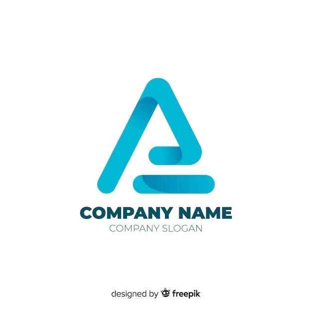 Modello di logo aziendale astratto gradiente Vettore Premium
