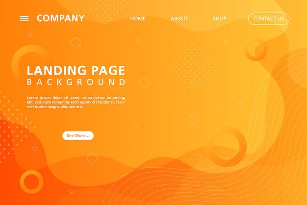 Gradiente geometrico astratto landing page sfondo Vettore Premium