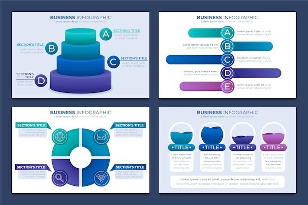 Gradiente infografica aziendale concetto Vettore Premium