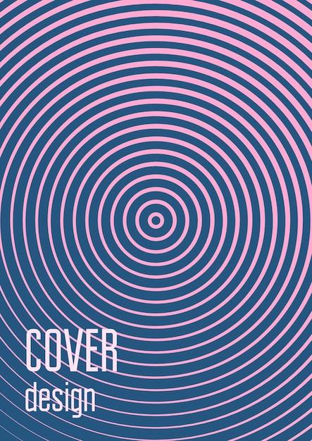 Set di modelli di copertina sfumata. layout alla moda minimale con mezzitoni. futuristico modello di copertina sfumata Vettore Premium