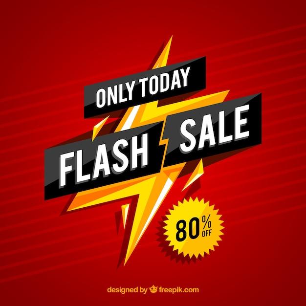 Priorità bassa di vendita flash gradiente Vettore Premium
