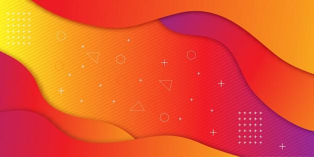 Sfondo sfumato forma geometrica Vettore Premium