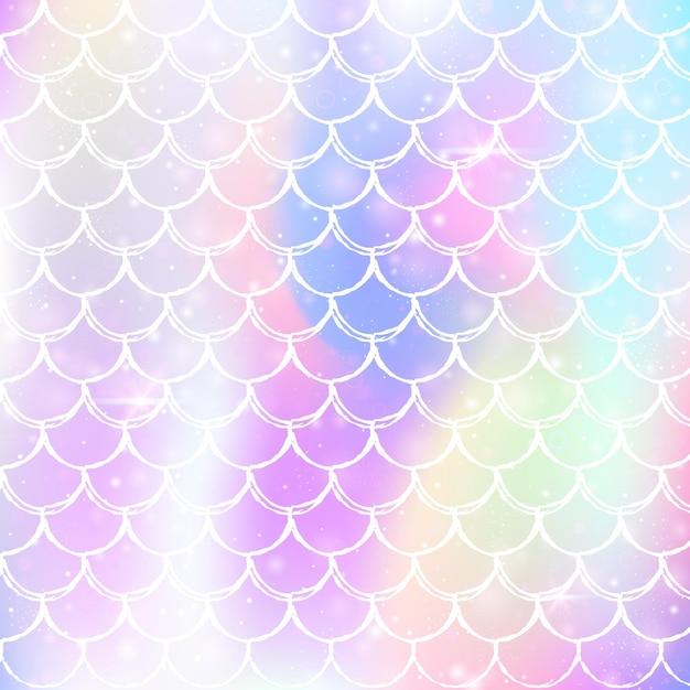 Motivo a coda di sirena olografico sfumato Vettore Premium