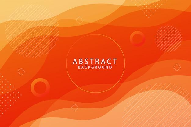 Backround astratto geometrico di forma arancione gradiente Vettore Premium