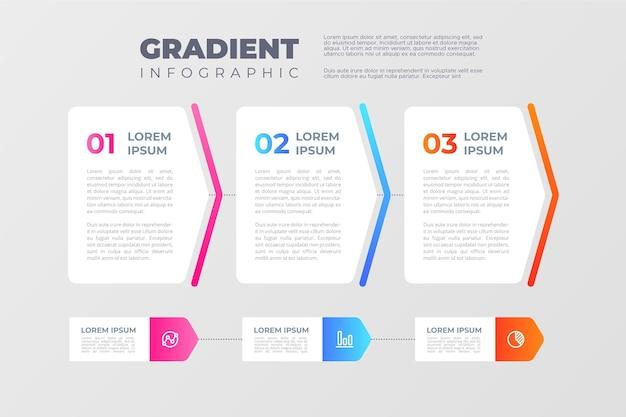 Infografica di processo gradiente Vettore Premium