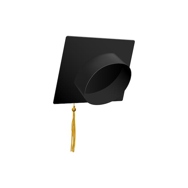 Berretto da laurea simbolo nappa di educazione Vettore Premium