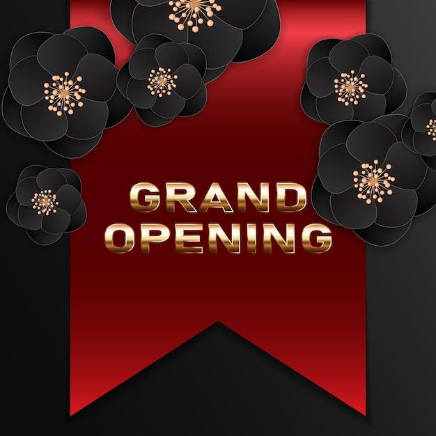 Banner di grande apertura. elemento di design festivo modello per la cerimonia di apertura Vettore Premium
