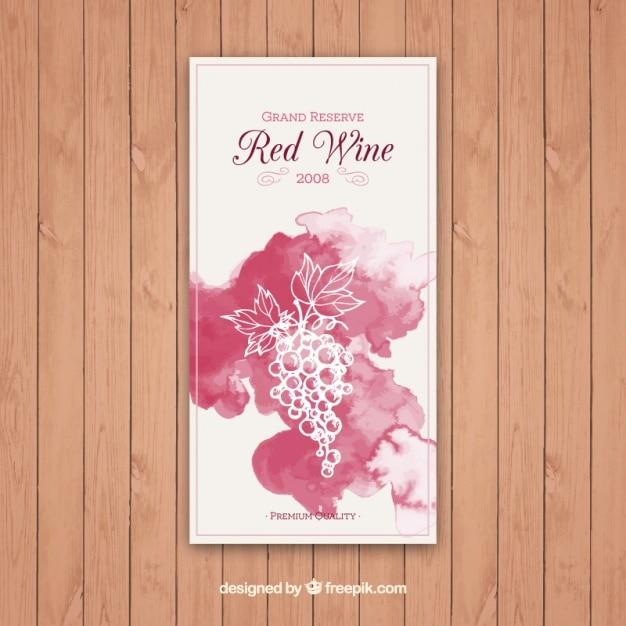 Etichetta di vino rosso grand reserve Vettore Premium