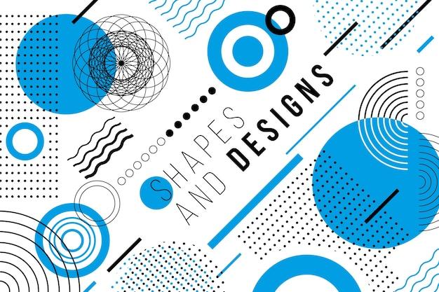 Sfondo geometrico di progettazione grafica Vettore Premium