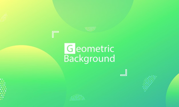 Sfondo astratto verde Vettore Premium