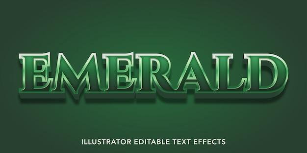 Effetto testo smeraldo verde Vettore Premium