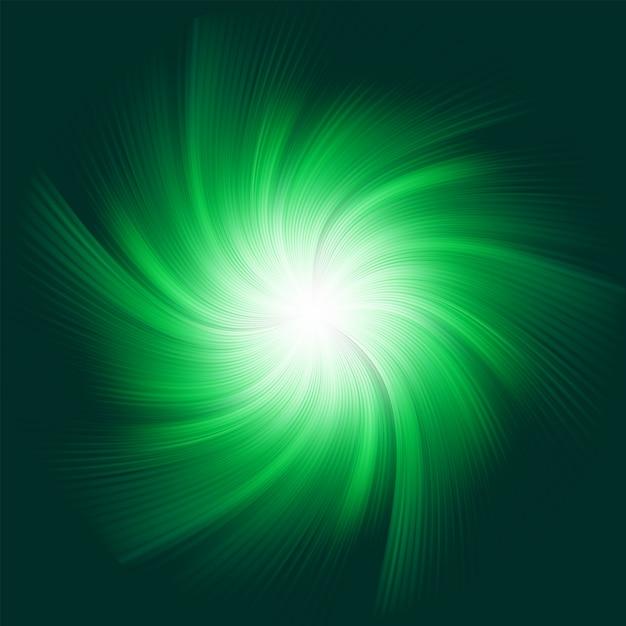 Sfondo verde a spirale. file incluso Vettore Premium