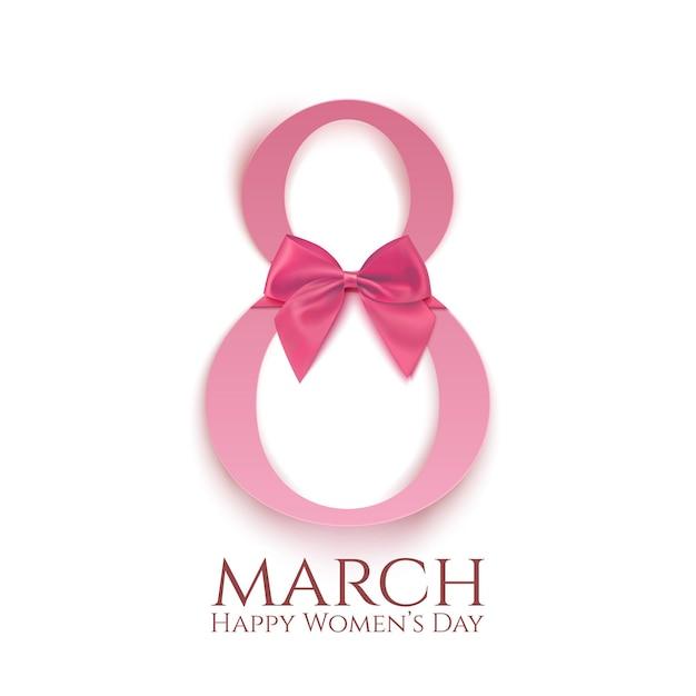 Modello di biglietto di auguri isolato su bianco. sfondo o brochure della giornata internazionale della donna. Vettore Premium