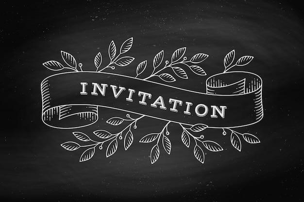 Biglietto di auguri con iscrizione invito Vettore Premium