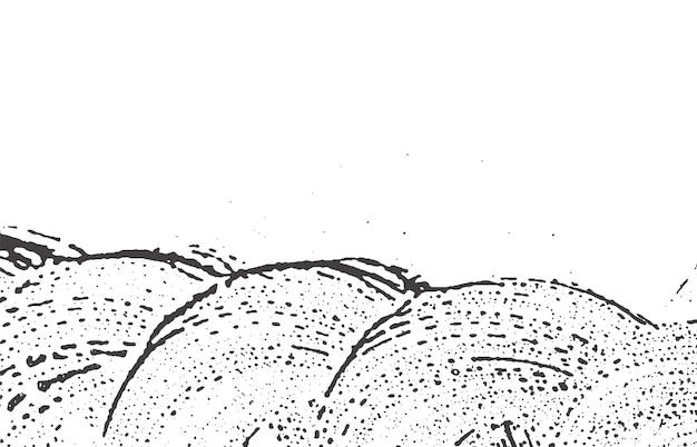 Struttura del grunge. traccia ruvida grigio nero angoscia sfondo accattivante. rumore sporco grunge texture. curiosa superficie artistica. Vettore Premium