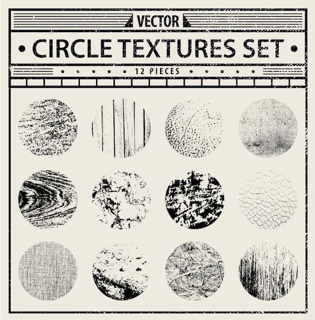 Grunge texture set - sfondi astratti in bianco e nero. Vettore Premium