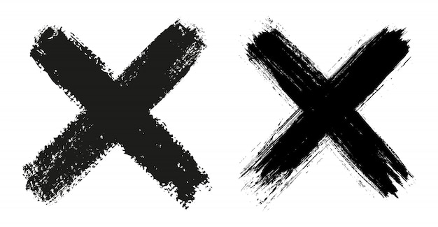Segno grunge x Vettore Premium