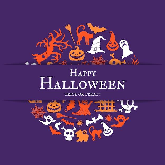 Sfondo di halloween con posto per il testo Vettore Premium