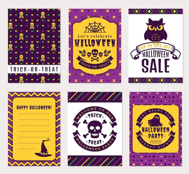 Banner di halloween Vettore Premium