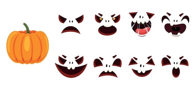 Halloween design con personaggio dei cartoni animati Vettore Premium