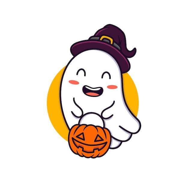 Illustrazione del fantasma di halloween Vettore Premium