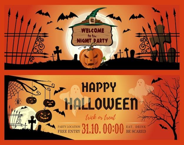 Illustrazione di halloween Vettore Premium