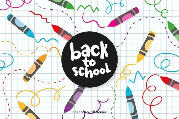 Disegnato a mano torna a scuola sfondo Vettore Premium