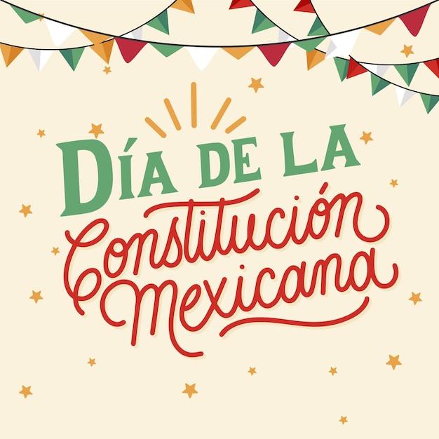 Giorno della costituzione disegnato a mano Vettore Premium