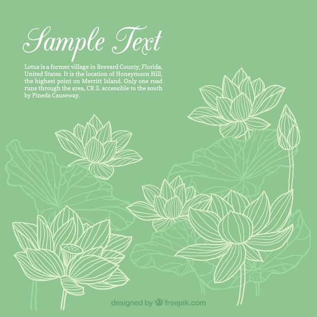 Template disegnati a mano fiori Vettore Premium