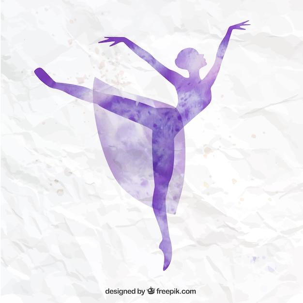 Mano ballerina dipinta Vettore Premium