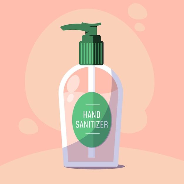 Disinfettante per le mani in design piatto Vettore Premium