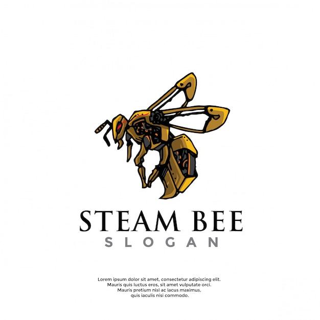 Logo ape steampunk disegnato a mano Vettore Premium