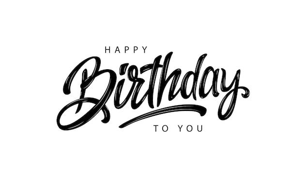 Buon compleanno lettering design Vettore Premium